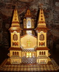 Macheta Manastire Artizanat Din Placaj, Traforaj