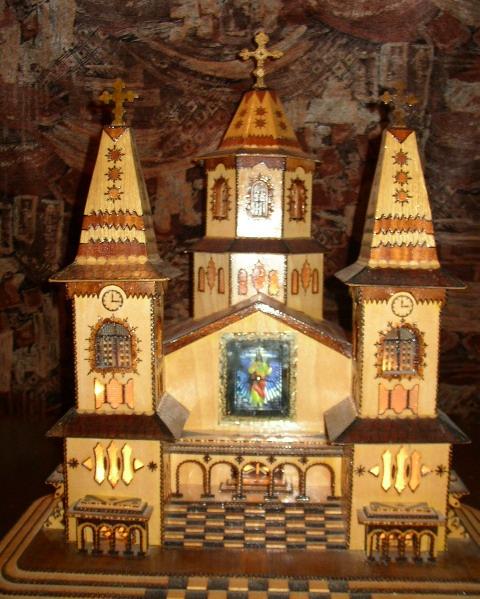 Cumpar Artizanat Macheta Manastire Biserica Bisericuta